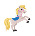 cartoon horse rearing up vector image vector image