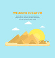 cartoon pyramid symbol of egypt background card vector image vector image