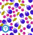 Cherry and plum Seamless Pattern vector image vector image