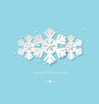 Christmas holiday design with paper cut style