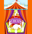 circus paper cut poster design template vector image