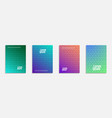 Colorful and modern cover design set of geometric