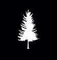 coniferous trees silhouettes vector image vector image