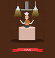 cook in flat style vector image vector image