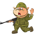 Cute Cat Special Forces Cartoon vector image