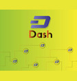 dash blockchain cryptocurrency technology vector image