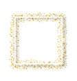 decorative square frame with glitter tinsel vector image vector image