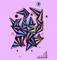 doodle sketch triangles and circles hand drawn vector image vector image