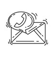 e-commerce contact icon hand drawn icon set vector image vector image