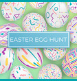 easter egg hunt template with ornate eggs vector image vector image