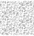 Extreme doodle seamless pattern vector image vector image