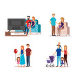 family members group characters vector image