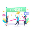 finish line businessman concept for web vector image vector image