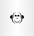 funny monkey icon vector image vector image