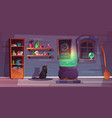 game background witch house quest vector image