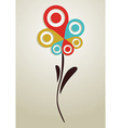 Gps mark conceptual flower vector image vector image