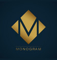 graceful monogram design vector image vector image