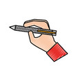 hand with pen write concept vector image vector image