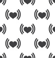heart beat seamless pattern vector image