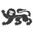 Heraldic lion 31 vector image vector image