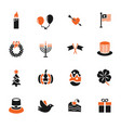 holidays icon set vector image vector image