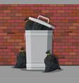 huge waste trash can on street vector image