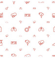 isolated icons pattern seamless white background vector image vector image