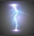 lightning flash bolt or thunderbolt blue vector image vector image