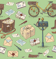 mail delivery seamless pattern vector image vector image