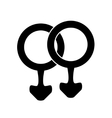 male icon gay vector image vector image