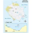 map new zealands volcanic island white island vector image