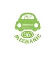 Mechanic Green Vintage Stamp vector image vector image
