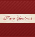 merry christmas decorative tag vector image vector image