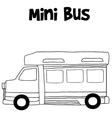 Mini bus hand draw
