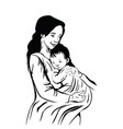 mom and baby portrait mothers care and love vector image vector image