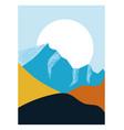 mountain landscape art vector image