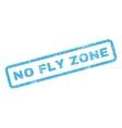 No Fly Zone Rubber Stamp vector image vector image