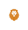 orange lion head and face for logo design vector image vector image