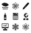 physical phenomenon icons set simple style vector image vector image