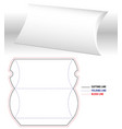 pillow box blank 3d template and open real size