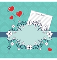 Romantic vignette with flowers and hearts vector image vector image