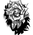 rose flower black and white sketch in shadow vector image