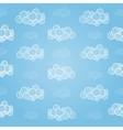Seamless pattern with hand-drawn clouds vector image