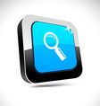 Searching 3d square button vector image vector image