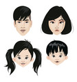 set a family asian nationality a collection vector image