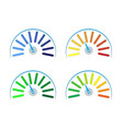 set of colored gauges vector image