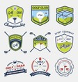 Set of golf club emblem vector image
