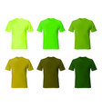 shirt design template set men t shirt green khaki vector image vector image