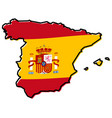 simplified map of spain outline with slightly vector image