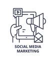 social media marketing concept line icon concept vector image vector image